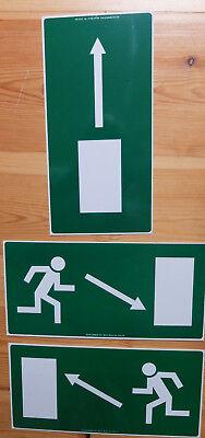 3 Stück Notausgangs Schilder Verschiedene Richtungen Lieferung Nach Wahl