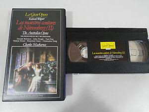 WAGNER-LOS-MAESTROS-CANTORES-DE-NUREMBERG-II-AUSTRALIAN-VHS-TAPE-LA-GRAN-OPERA