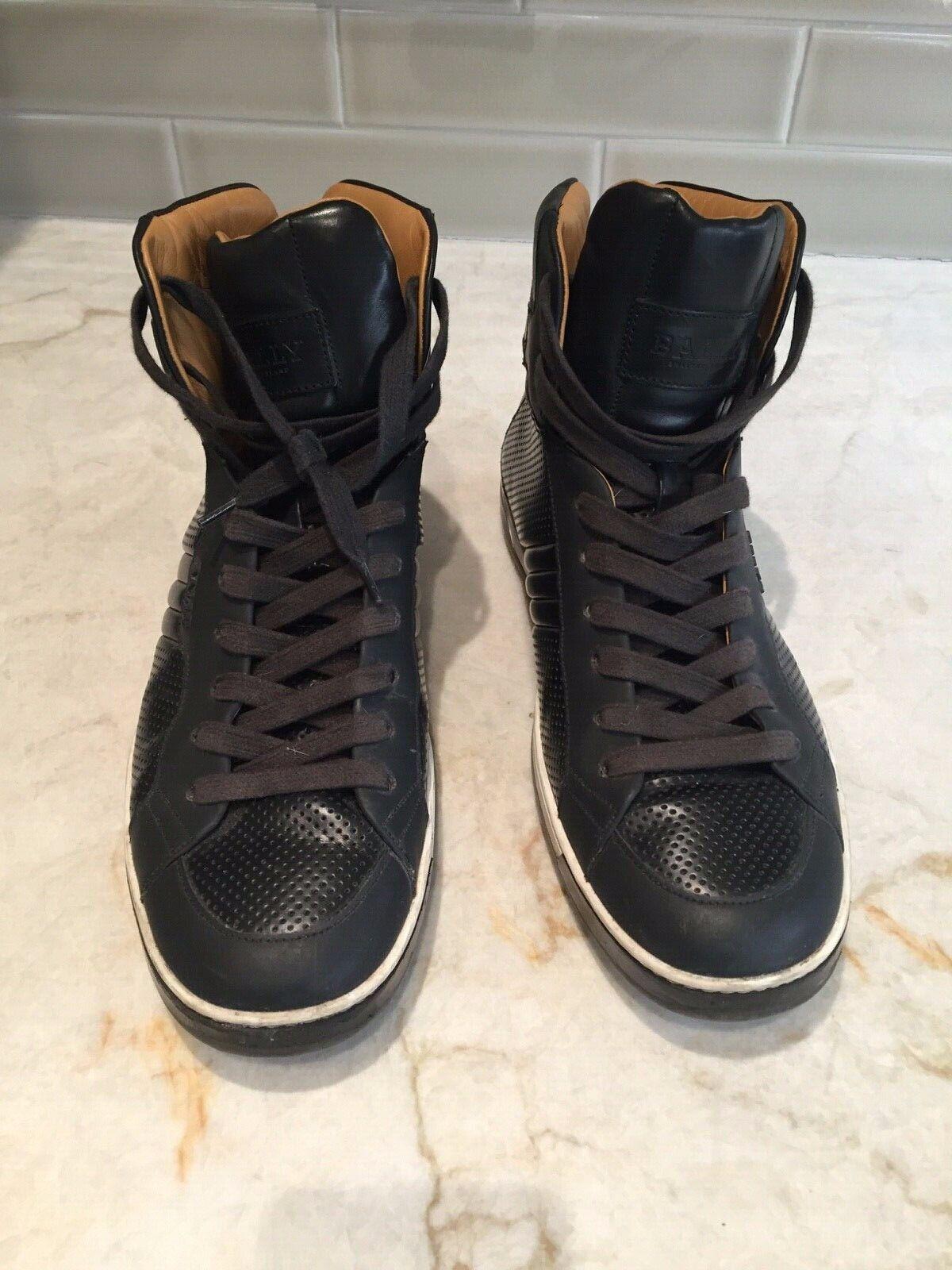 BALLY Negro para Hombre de Alto Top Zapatillas De Moda Talla 8