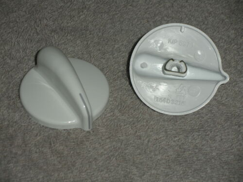 WB03X10039 164D3216 TOP BURNER KNOBS SET OF 2 GE HOTPOINT WHITE USED SET OF 2