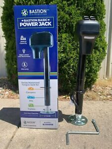 One New Basic Electric Tongue Jack | 3500LB Capacity A-Frame | LED | Campers/RVs