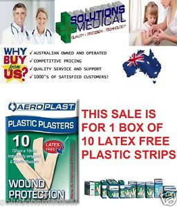 10-FIRST-AID-BANDAIDS-72mm-X-19mm-LARGE-PLASTIC-PLASTERS-SUPER-ADHESION