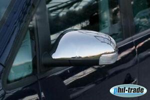 1Set Acero Inox. Espejo Gorras V2A Cromo Para VW Touran Tipo 1T1 1T2 2003-2009