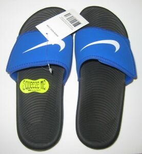 1abf17e6ae23 Nike Slides Adjustable Kawa Blue 5Y 6Y 7Y Youth Kids NWT MSRP  30 ...