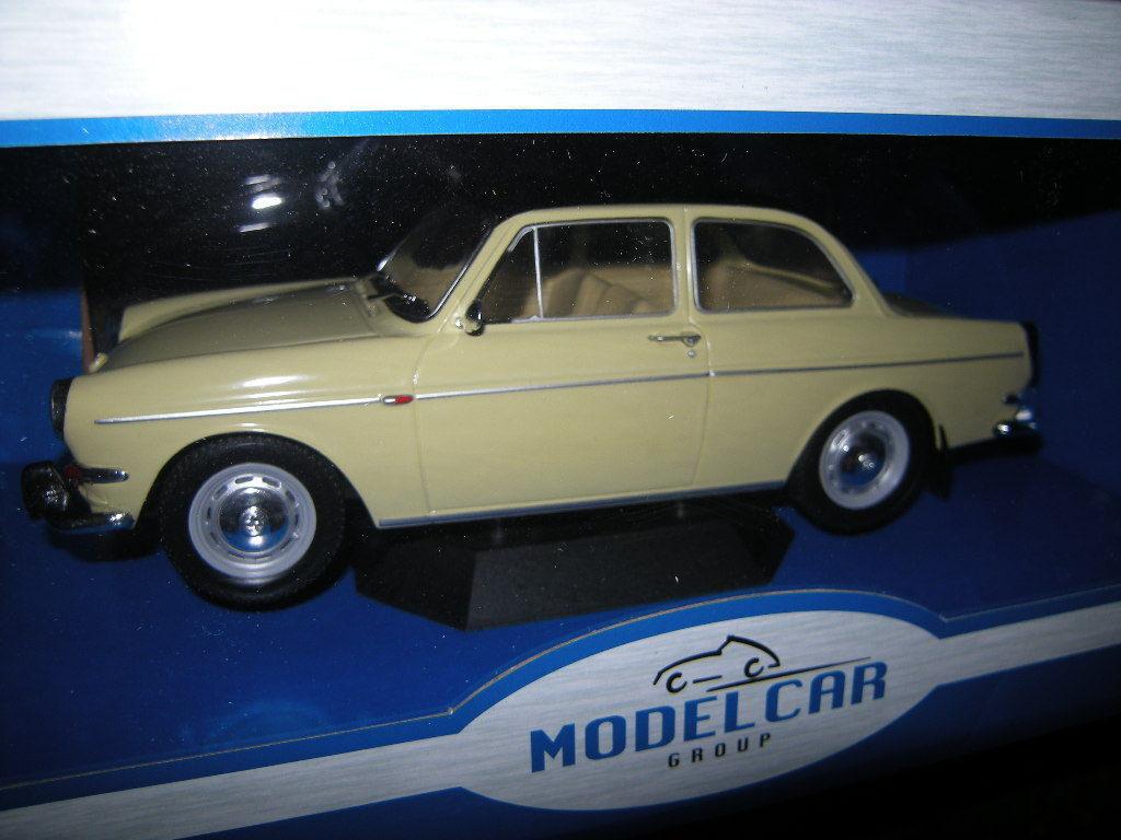 1 18 MODELCAR Group VW 1500 S Type 3 Beige-Noir Nº 18089 neuf dans sa boîte