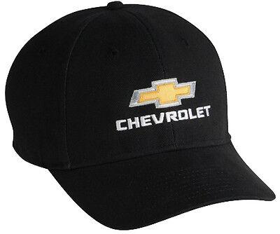 Chevy Gold Bowtie Black Hat