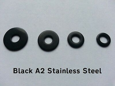 A2 BLACK Stainless Steel M5 Penny/Mudguard/Repair Washers