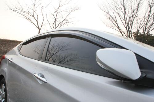 Smoke Window Sun Visor Vent Guard 4p For 2011 2015 Hyundai Elantra Avante MD