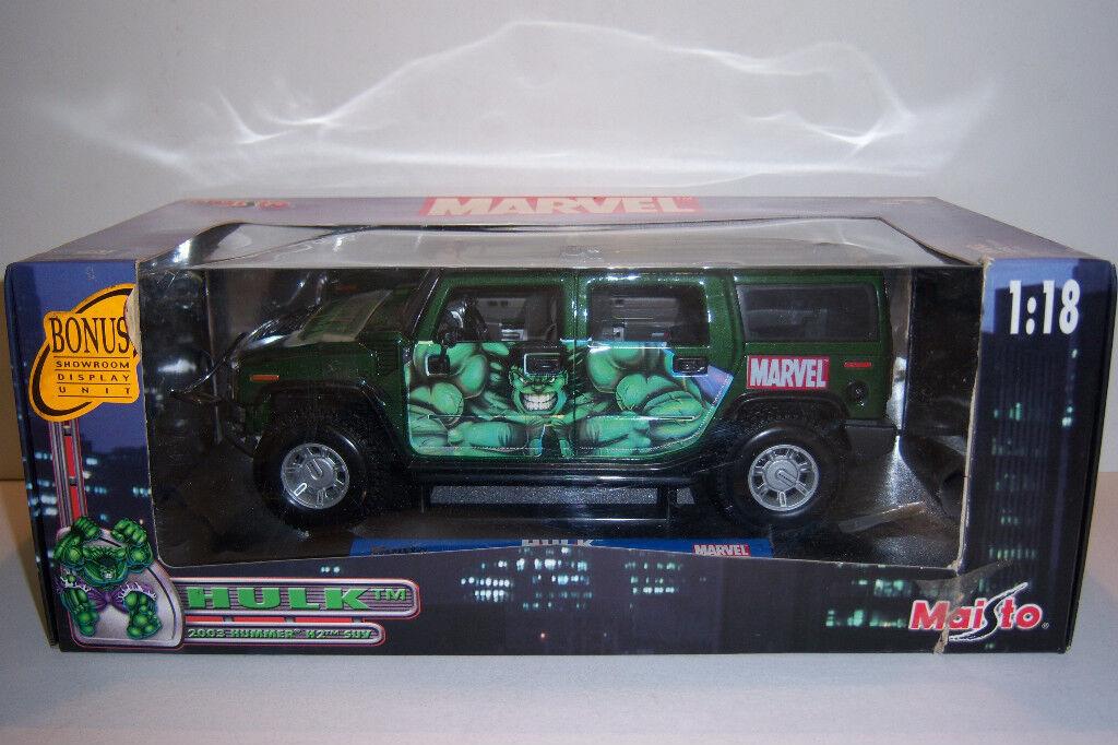mas barato Maisto Hulk Hummer H2 Suv 2003 1 18 Die Die Die Cast  grandes precios de descuento