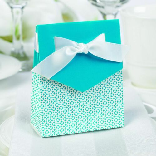 Aqua Te  /& White Tent Favor Boxes Wedding Party Graduations Hortense B Hewitt