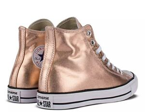 7d51a585176d CONVERSE CHUCK TAYLOR ALL STAR HI TOP ROSE GOLD Sz 10 Women s NEW ...