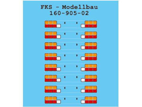 NEU FKS 160-905-02 Heckblenden für LKW /& Auflieger Typ 2 Spur N