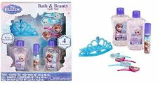 DISNEY FROZEN ANNA & ELSA BATH GIFT SET HAIR BARRETTES BODY WASH & SHAMPOO TIARA