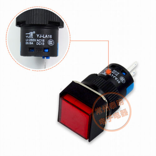 16MM Square Momentary Push Button Switch SPST Car Dashboard Dash Boat