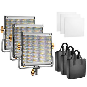 Neewer-Photography-3-Pack-Dimmable-Bi-color-480-LED-Video-Light-with-U-Bracket