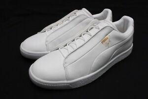 Details about PUMA CLYDE FASHION LEATHER PUMA WHITE 36457202