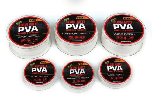 FOX PVA Edges 5m refill Slow Melt 25mm Narrow