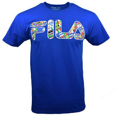 NWT Men's FILA T-shirt Classic Logo Tee Red S M L XL XXL Athletic
