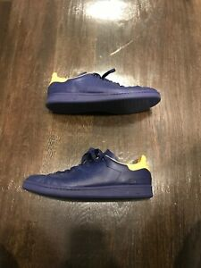 ADIDAS BY RAF SIMONS Navy Stan Smith Leather Sneakers Size 11.5 Pre ... 3d8be8c53