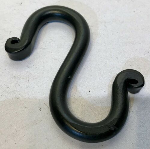 """Hand Forged Black 21//2/"""" Wrought Iron S Hook Blacksmith Antique Style Home Garden"""