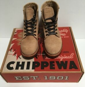 df607f59127b0 Image is loading Chippewa-Khaki-Suede-Service-Boot-Style-1901G27-New-