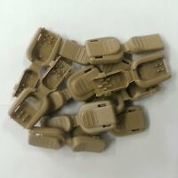 (10) Coyote Brown Tan Plastic Zipper Pull Cord Lock End Paracord Tactical Zip 6
