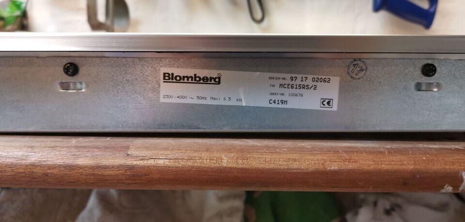 Kogeplade, Blomberg MCE615RS/2, b: 62 d: 51 h: 6