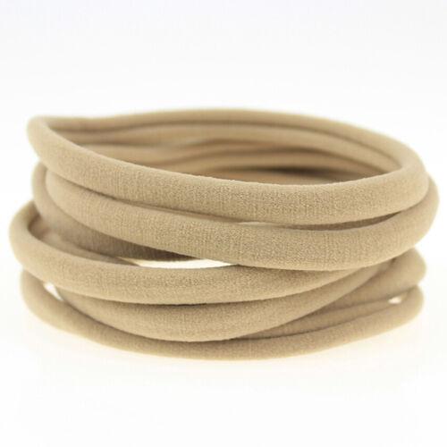 10Pcs solide nylon élastique souple Bandeau Pour Bébé Filles Femmes Bandeau Boucle