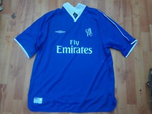 huge selection of 1d3b9 99781 Details about CHELSEA FC 2001-2003 UMBRO MENS XXL HOME FOOTBALL SHIRT