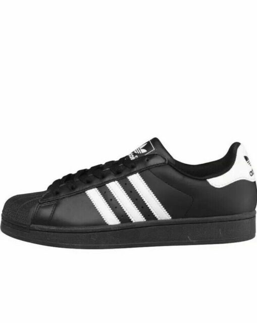 Ii 20 Mens Black Top Sz 18 Sneakers G17067 Leather Superstar Adidas Low 19 White BCodxe