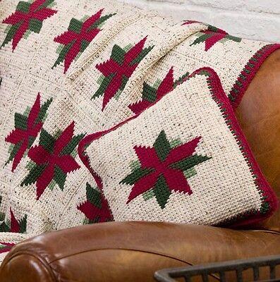 Lovely Winter Blanket and Cushion- Crochet Pattern- Xmas Pattern
