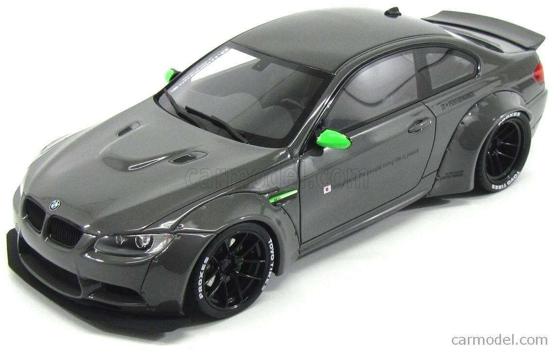 1:18 BMW M3 E92 LB Performance LIBERTY Passeggiata Grigio GT SPIRIT in resina modello GT127 NUOVO