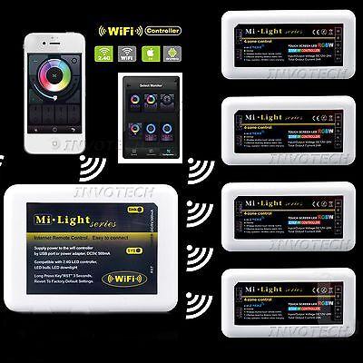 2.4G 4-Zone Mi-light Wireless RF Dimmable LED Strip Controller DC 12V-24V Dimmer