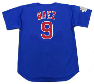 2810f55c5ca Image is loading JAVIER-BAEZ-Chicago-Cubs-Majestic-Alternate-Baseball-Jersey