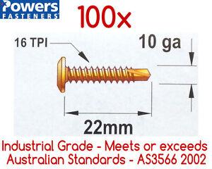 100x-10g-16-x-22mm-Phillips-Wafer-Head-Self-Drilling-Metal-Tek-Screws-SDS-Screw