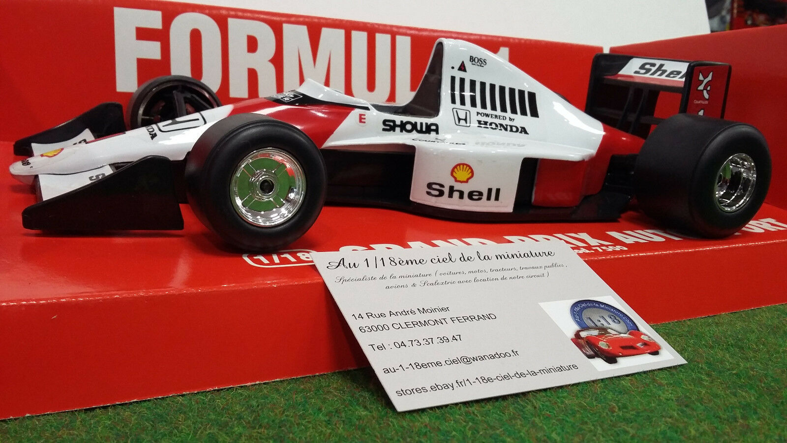 F1 McLAREN HONDA   1  1 18 RUOTE STERZANTI 7500 voiture miniature de collection