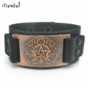 Leather bracelet Tree of Life Leather Bracelet  high quality italian leather positive cuff  unisex Leather Wristband  Leather Bracelet