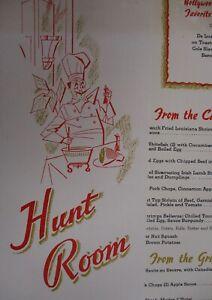 Vintage-1958-Hunt-Room-The-Bellevue-Stratford-Hotel-Restaurant-Menu-Philadelphia