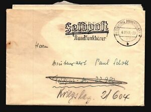 Germany-1941-Stampless-Feldpost-Cover-w-Letter-L1080