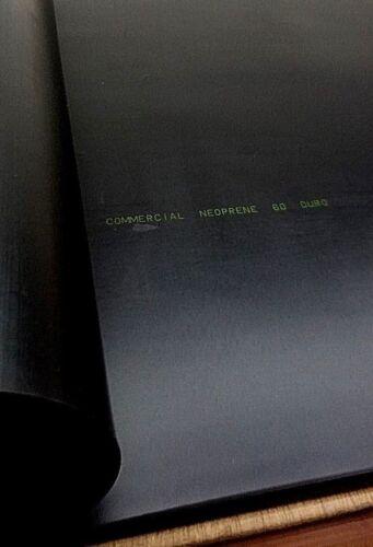"Neoprene Rubber Sheet Solid Strip 1//2/""Thk x 12/"" W x 18/"" L Rect Pad 60 Duro"