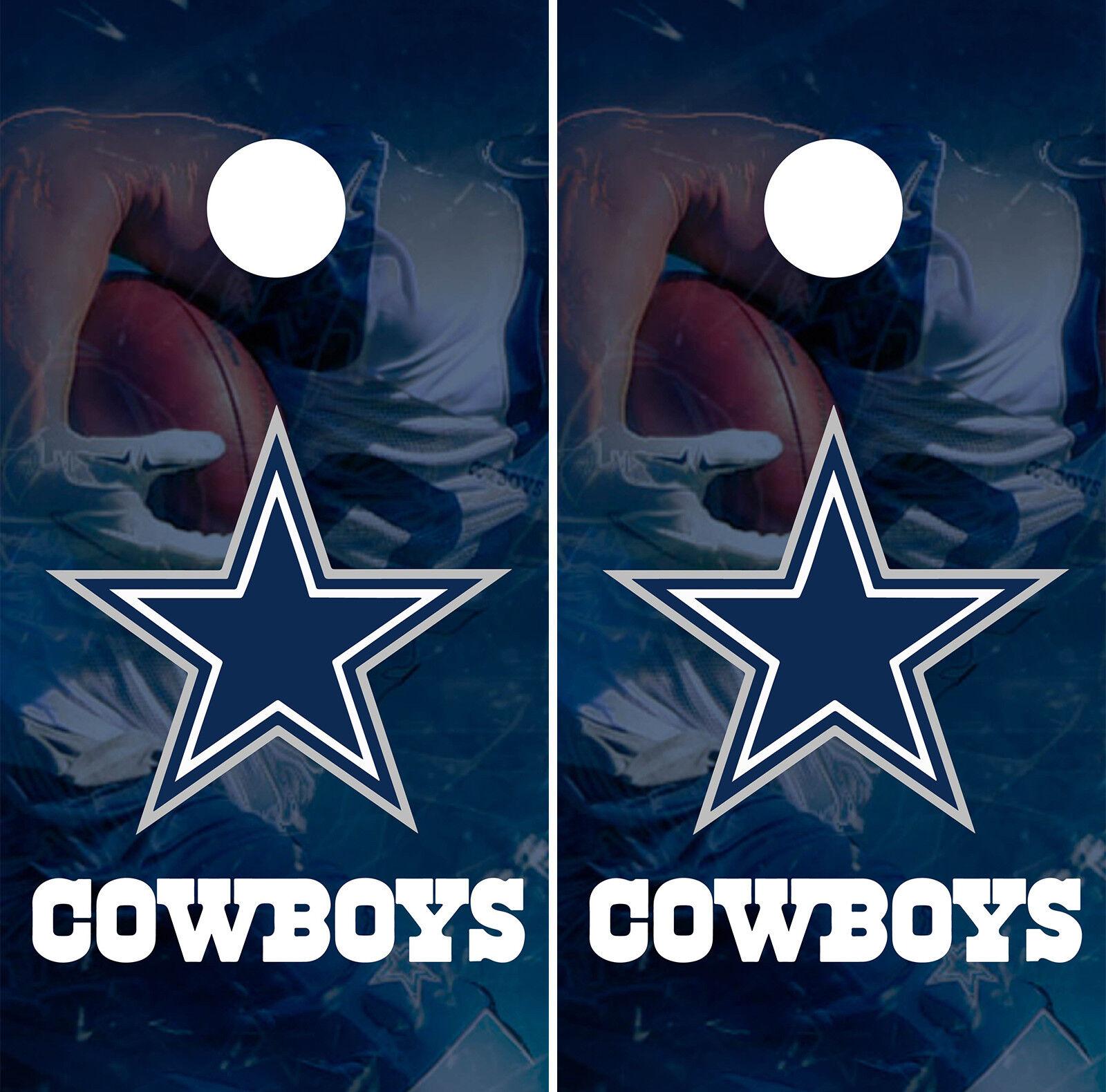 Dallas Cowboys Player  Cornhole Wrap NFL Skin Game Board Set Vinyl Decal CO08  brand outlet