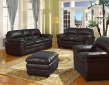 Item 1 New Verona Bonded Leather Sofa Black Brown Tan 3 2 Seaters