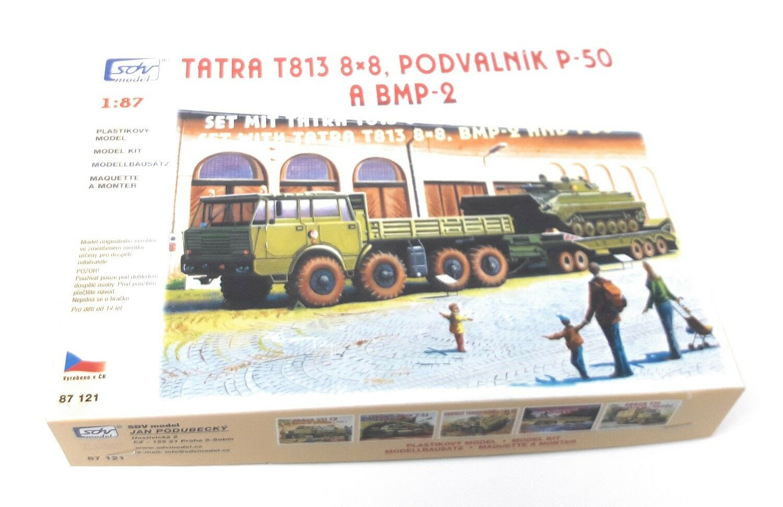 Sdv rohrstabilisierungseinheit 1   87 h0 tatra t813 8x8 kolos + p50 trailer + tank bmp - 2