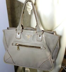 3803625f0c132 Image is loading Prada-Leather-X-Large-Taupe-color-Tote