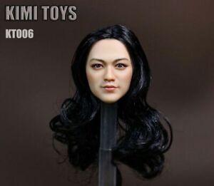 KIMI-TOYS-KT006-Black-Hair-Asian-Female-1-6-Scale-Head-Sculpt-F-12-039-039-Figure-Body