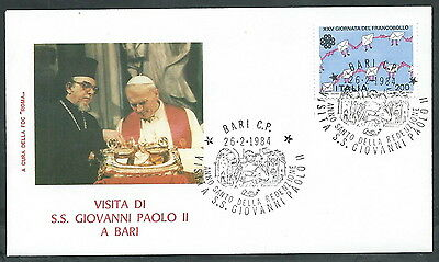 1984 Vaticano Viaggi Del Papa Bari - Rm3 Betrouwbare Prestaties