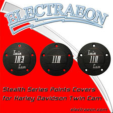 Electraeon Stealth Series Custom Points Covers for Harley-Davidson motorcycles.