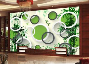 3D Circles Bamboos 853 Wall Paper Murals Wall Print Wall Wallpaper Mural AU Kyra