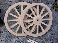 Wagon & Cannon Wheels - 8 Inch Diameter Mdf Miniature Wooden Civil War Firing
