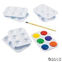 Lot Of 100 Artist Painter Plastic Paint Palettes 3 1/2 X 5 Paint Trays Wells